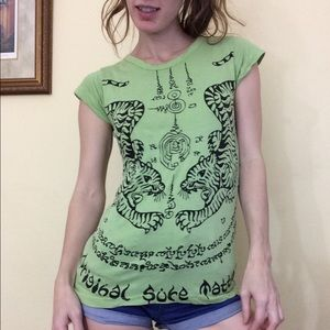 Thai Twin Tigers Cotton Yoga Tee